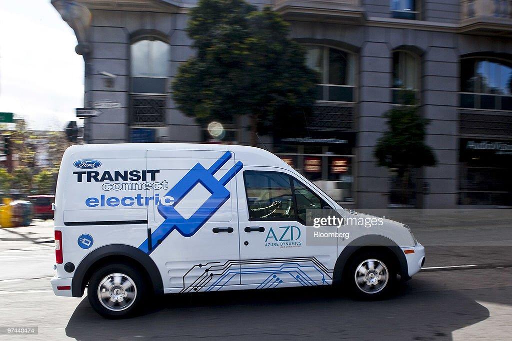 Photos Et Images De Ford All Electric Transit Connect Vans First