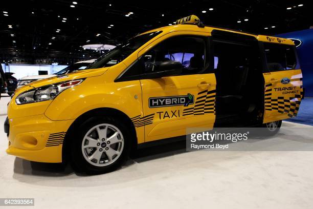 Ford Transit Connect Hybrid Taxi Is On Display At The 109th Annual Chicago Auto Show