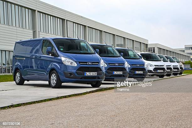 ford transit custom vehicles - mini van stock photos and pictures