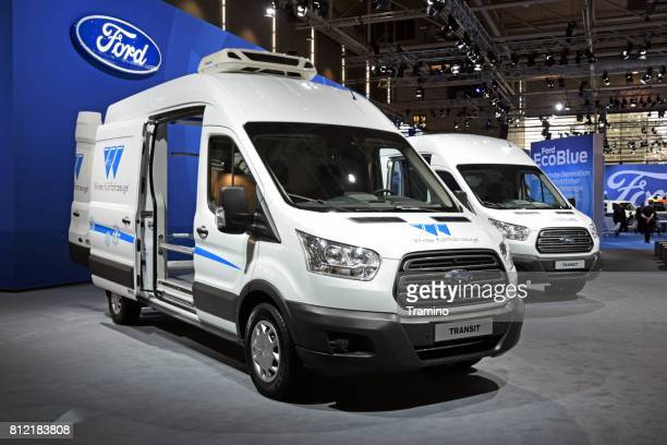 Ford Transit vehicles on the motor show