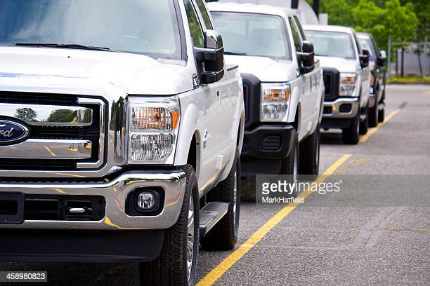 Ford Trucks Lined Up