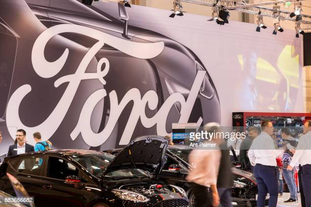 Ford unvail their new Mustang to the public for the first time in Germany at the Essen Motor Show on December 1 2017 in Essen Germany The Essen Motor...