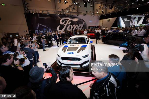 Ford unveil their new Mustang to the public for the first time in Germany at the Essen Motor Show on December 1 2017 in Essen Germany The Essen Motor...