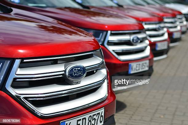 ford vehicles on the parking - ford motor company stock pictures, royalty-free photos & images
