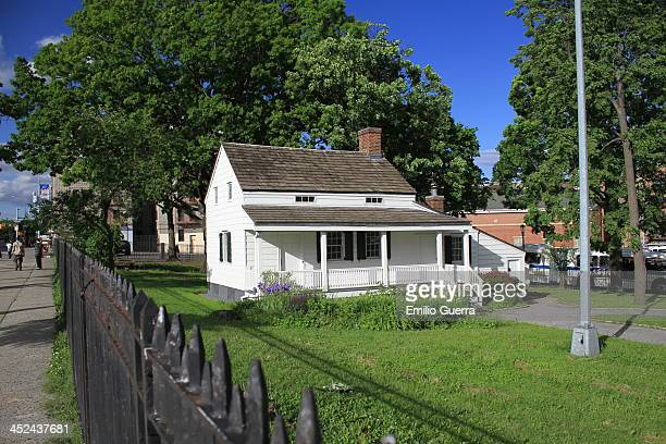 Fordham, Bronx, New York City, New York, United States <b>From the landmark designation report : </b> Poe Cottage is a fine example of the wooden...