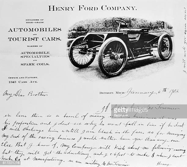 Fordiana. Detroit, Michigan: Recently discovered among Henry Ford's personal papers, this letter to his brother-in-law reflects the shrewd business...