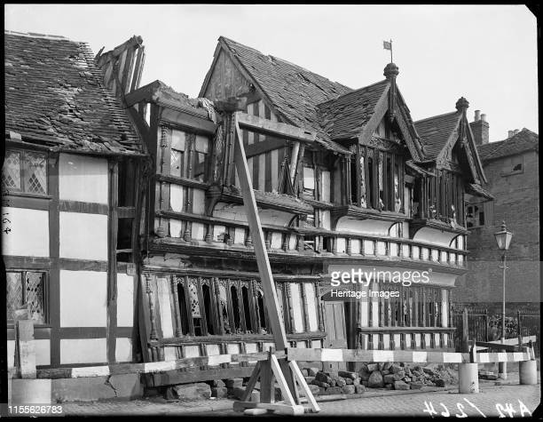Ford's Hospital, Greyfriars Lane, Coventry, West Midlands, 1941.. Exterior view Coventry City centre was devastated by air raids in 1940. Ford's...