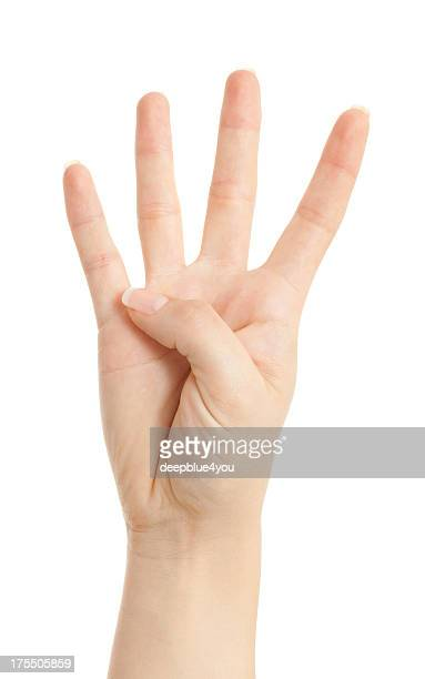 fore fingers of from a woman hand