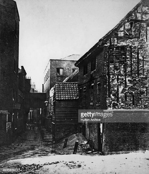 Fore Street Lambeth near the site of the Old Red Lion pub London circa 1870