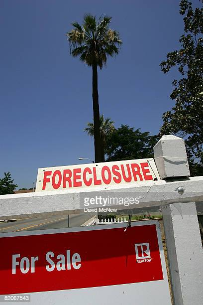 Foreclosed home is up for sale July 25, 2008 in Altadena, California. Foreclosure filings skyrocketed, for their eighth consecutive quarterly climb,...