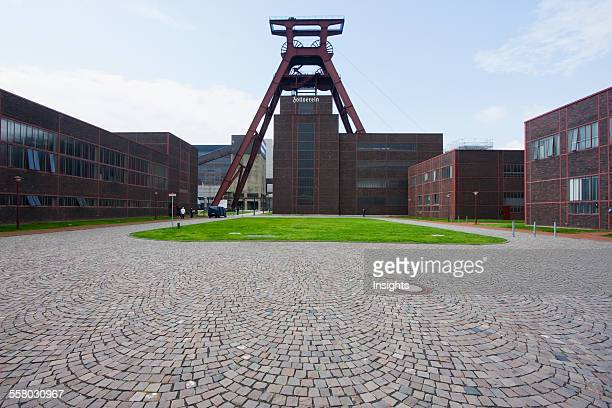 Forecourt And Shaft Xii In The Zollverein Coal Mine Industrial Complex Essen North RhineWestphalia Germany