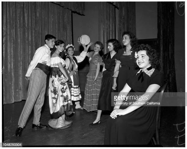 Foreign adjustment students perform at Berendo Junior High School 25 April 1952 Jorge Medina Adela Arocha Saltillo Coahuila Hiroko Miyashita Wing...