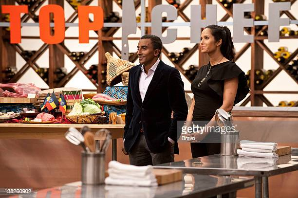 TOP CHEF Foreign Affairs Episode 708 Pictured Marcus Samuelson Padma Laskhmi
