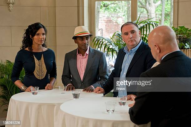 TOP CHEF Foreign Affairs Episode 708 Pictured Padma Lakshmi Marcus Samuelson Jose Andres Tom Colicchio