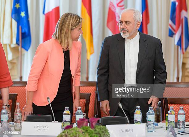 Foreign Affairs Minister of Iran Mohammad Javad Zarif and High Representative of the European Union for Foreign Affairs and Security Policy Federica...