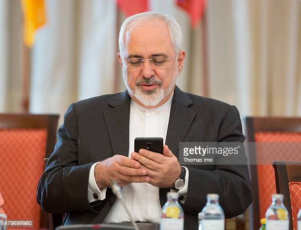 Foreign Affairs Minister of Iran Mohammad Javad Zarif attends the nuclear talks between the E33 and Iran in Vienna Austria on July 06 2015...