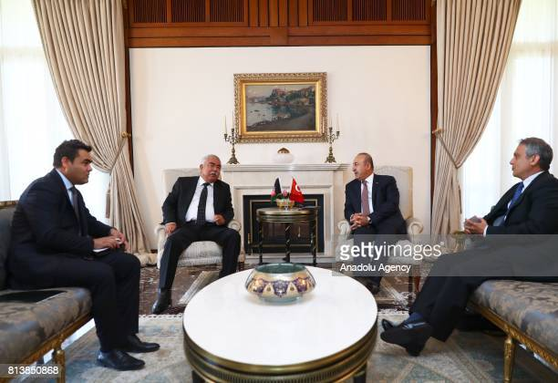 Foreign Affairs Minister of Turkey Mevlut Cavusoglu and First Vice President of Afghanistan Abdul Rashid Dostum meet in Ankara Turkey on July 13 2017
