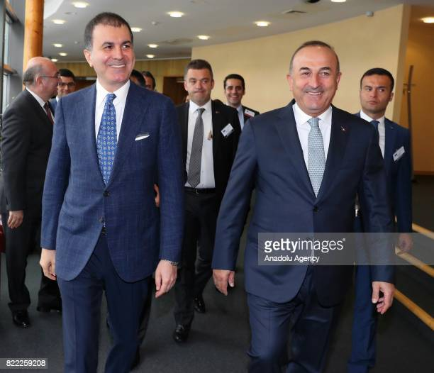 Foreign Affairs Minister of Turkey Mevlut Cavusoglu and Minister for European Union Affairs of Turkey Omer Celik attend HighLevel Political Dialogue...