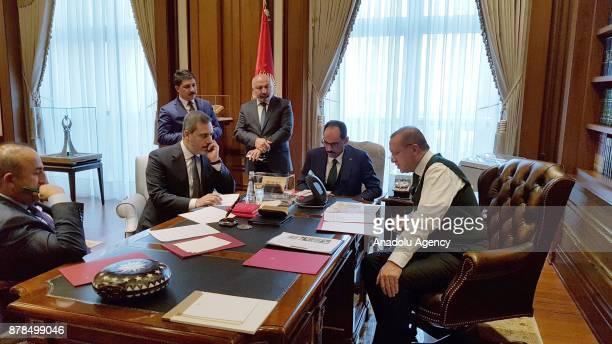 Foreign Affairs Minister of Turkey Mevlut Cavusoglu Chief of Turkish National Intelligence Agency Hakan Fidan President Erdogan's Executive Assistant...