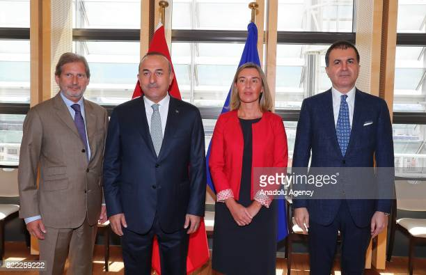 Foreign Affairs Minister of Turkey Mevlut Cavusoglu Minister for European Union Affairs of Turkey Omer Celik The European Unions High Representative...