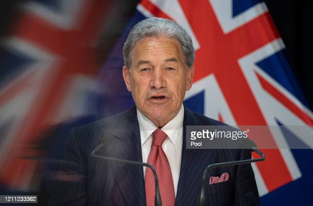 Foreign Affairs Minister Winston Peters delivers a speech on New Zealand's foreign policy response to COVID-19 at The Beehive of the Parliament...