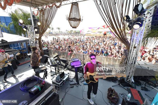 Foreign Air performs on the BMI Stage during 2017 Hangout Music Festival on May 19 2017 in Gulf Shores Alabama