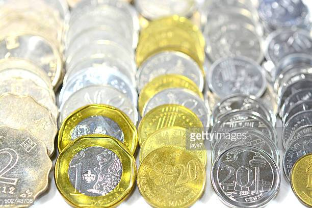 foreign coins - malaysian ringgit stock photos and pictures