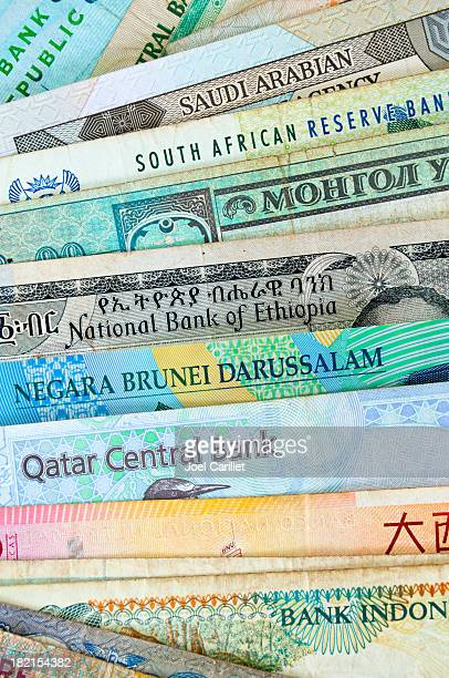 foreign currency notes - south african currency stock photos and pictures