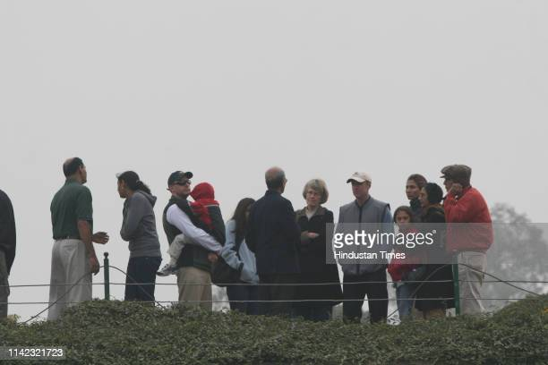 Foreign delegates at Raj Ghat attending the prayer meeting to pay tribute to those who died in terrorist attack in year 2008 and for prosperity in...