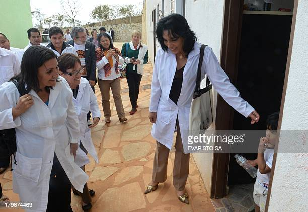 Foreign doctors mostly Cubans involved in the Brazilian government's More Doctors program visit the Indigenous Health Shelter that supports basic and...