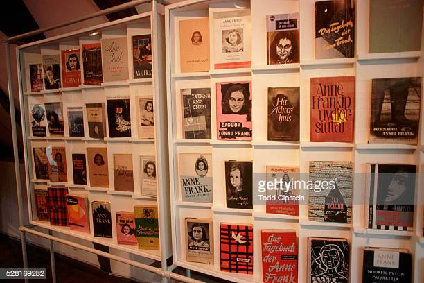 foreign editions of the diary of anne frank - gipstein stock pictures, royalty-free photos & images