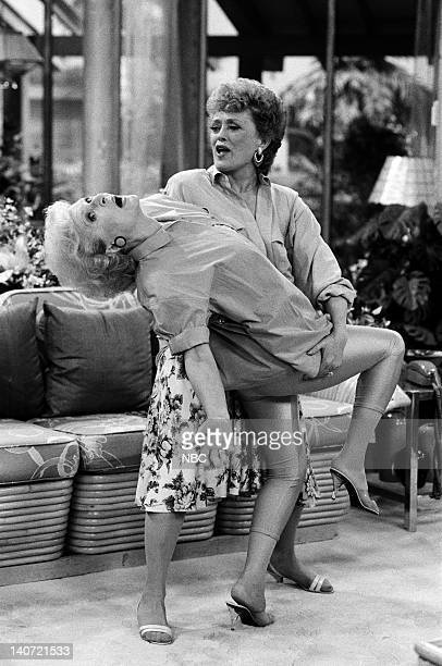 GIRLS Foreign Exchange Episode 24 Pictured Betty White as Rose Nylund Rue McClanahan as Blanche Devereaux Photo by Joseph Del Valle/NBCU Photo Bank