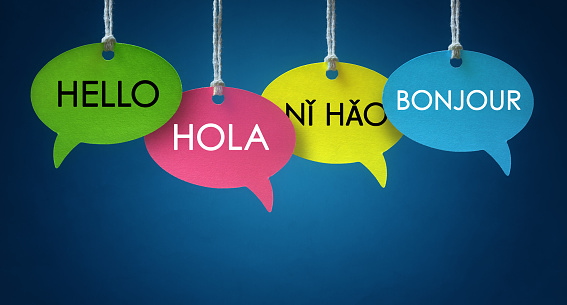 Foreign language communication speech bubbles 905514896