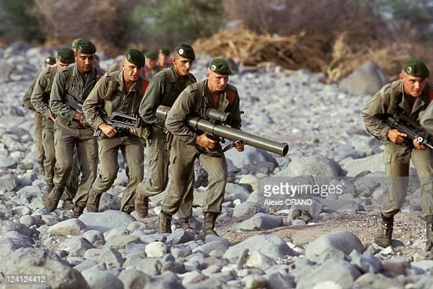 Foreign legion 13th half brigade in Djibouti in June 1993