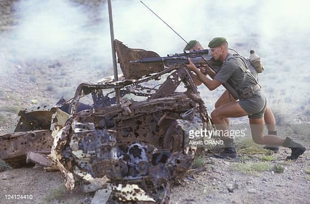 Foreign legion 13th half brigade in Djibouti in June 1993 Training course marksman