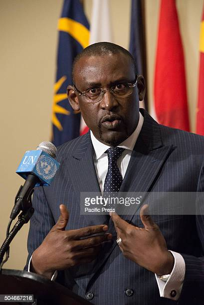 Foreign Minister Abdoulaye Diop briefs the press following his participation in the UN Security Council Following a United Nations Security Council...