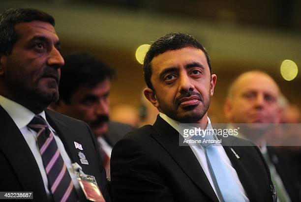 Foreign Minister Abdullah bin Zayed alNahyan and Sheikh Ahmed Bin Saeed alMaktoum chairman of the Dubai Economic Sector Committee attend the...