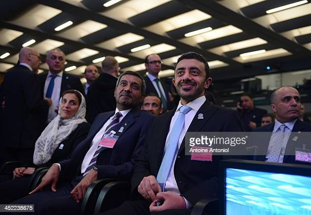 Foreign Minister Abdullah bin Zayed alNahyan Sheikh Ahmed Bin Saeed alMaktoum chairman of the Dubai Economic Sector Committee and Sheikha Lubna Al...
