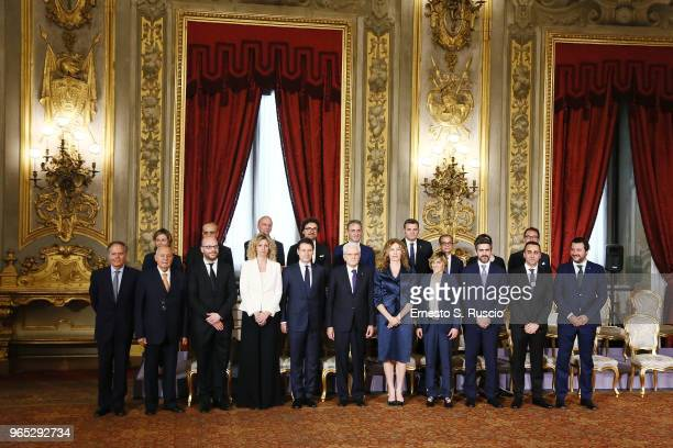 Foreign Minister Enzo Moavero Milanesi, European Affairs Minister Paolo Savona, Health Minister Giulia Grillo, Family and the Disabled Minister...