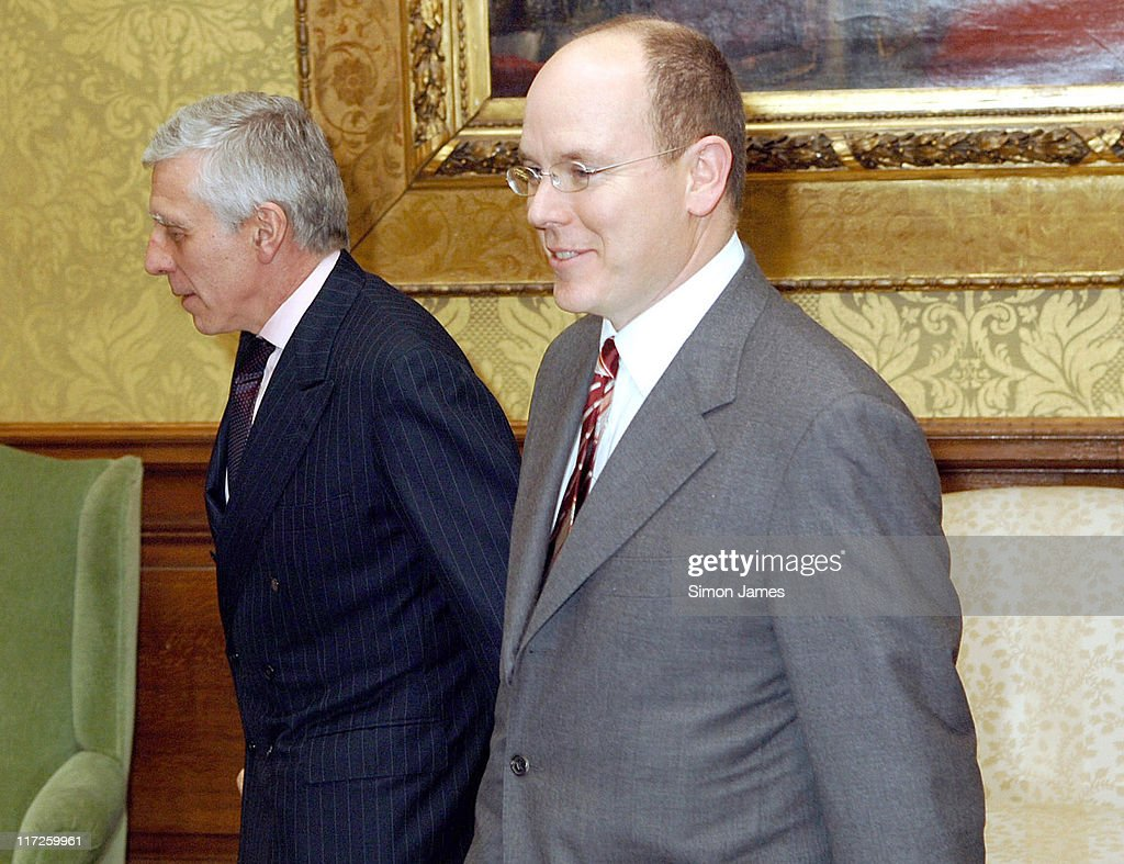 Foreign Minister Jack Straw and Prince Albert of Monaco