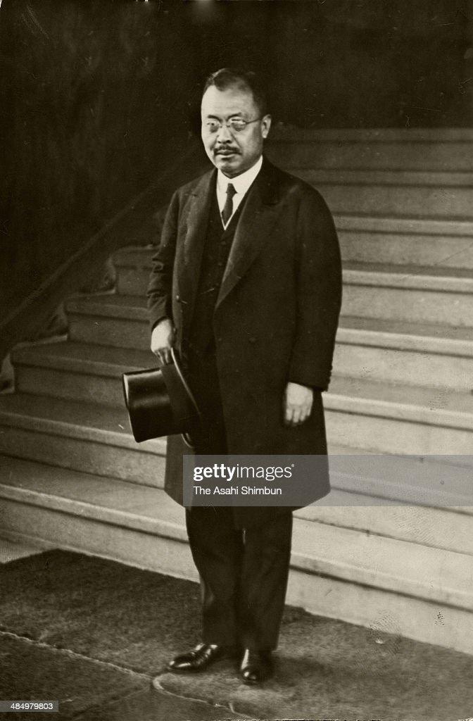 Foreign Minister Kijuro Shidehara is seen circa 1931 in Tokyo, Japan. Kijuro Shidehara (1872-1951) was the 44th Prime Minister of Japan.