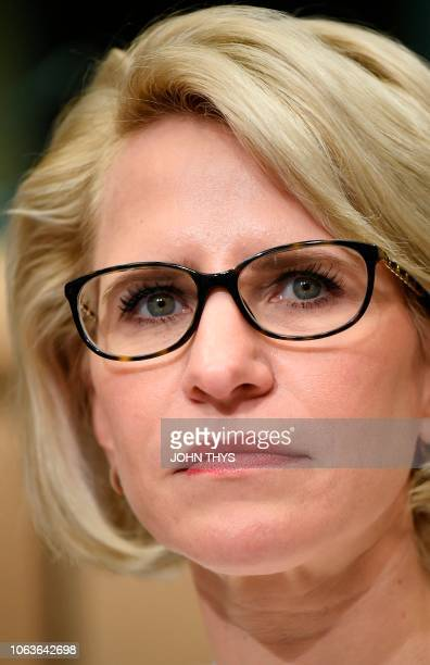 Foreign Minister of Liechtenstein Aurelia Frick looks on prior to the start of a EUEuropean Economic Area Council at the European Council in Brussels...