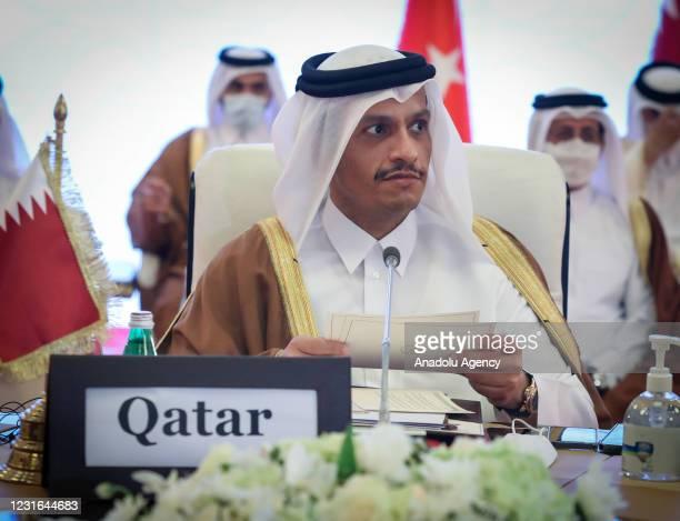 Foreign Minister of Qatar, Mohammed bin Abdulrahman bin Jassim Al Thani, Turkish Foreign Minister Mevlut Cavusoglu , Deputy Prime Minister and...