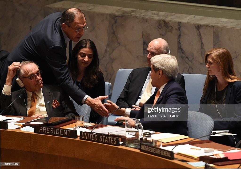 UN-SYRIA-CONFLICT-RESOLUTION-TALKS : News Photo