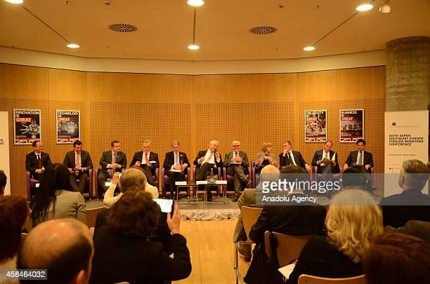 Foreign Minister of Serbia Ivica Dacic Foreign Minister of Bosnia Zlatko Lagumdzija Foreign Secretary of Great Britain Philip Hammond moderator...