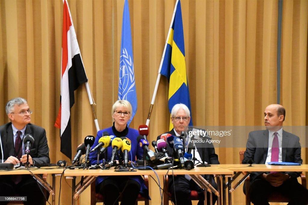 Yemen peace talks start in Sweden : News Photo