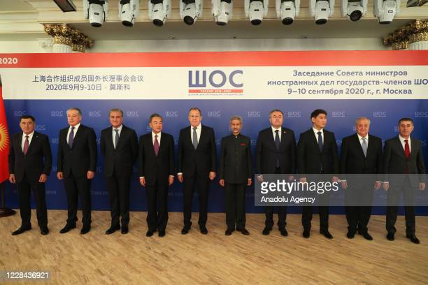 Foreign Minister of Tajikistan Sirodjidin Aslov , Pakistani Foreign Minister Shah Mehmood Qureshi , Chinese Foreign Minister Wang Yi , Russian...