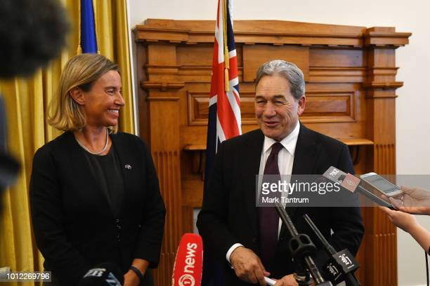 Foreign Minister Winston Peters and Federica Mogherini European Union High Representative for Foreign Affairs and Security Policy and VicePresident...