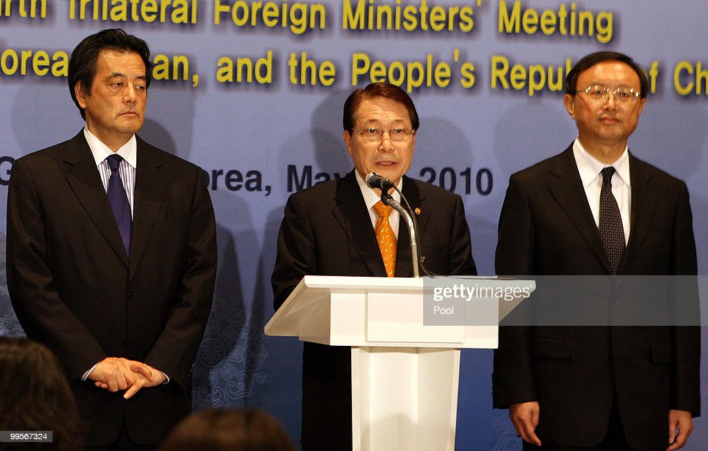 Foreign Ministers Of Japan, South Korea And China Hold Meeting