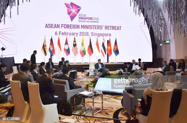 ASEAN foreign ministers meet in Singapore on Feb 6 as the Association of Southeast Asian Nations discussed issues such as that of Rohingya Muslims in...
